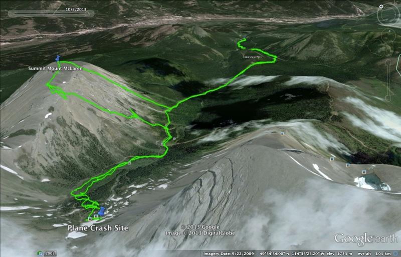 Mount McLaren Map