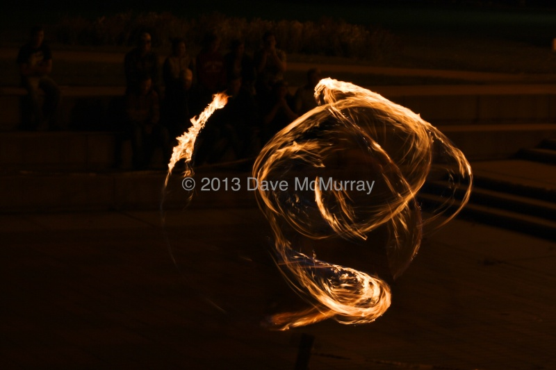 Fire Twirling Demonstration in Galt Gardens