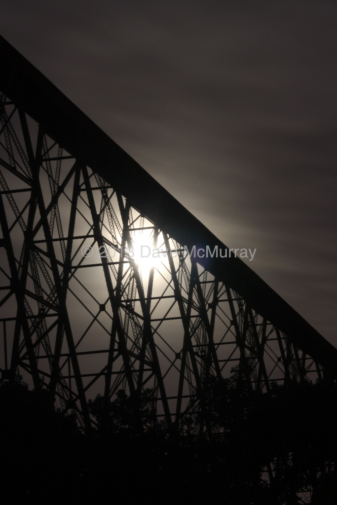Moonrise over the Highlevel Bridge
