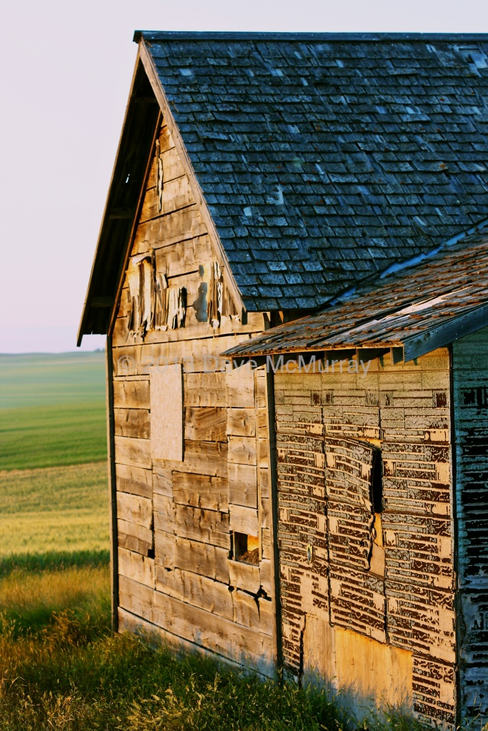 Abandoned Farm at Sunset in Southern Alberta