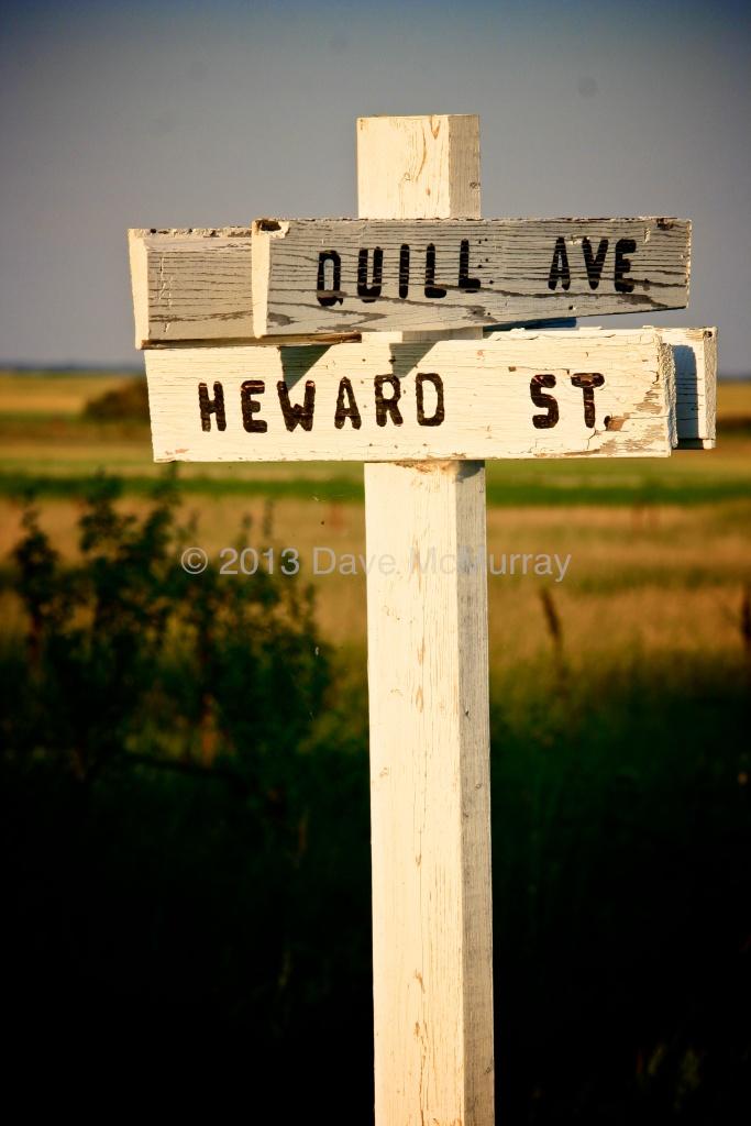 Street Signs in Leslie, SK