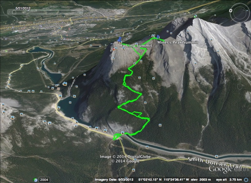 Ha Ling & Miner's Peak Route
