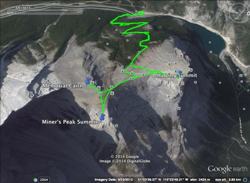 Miner's Peak map