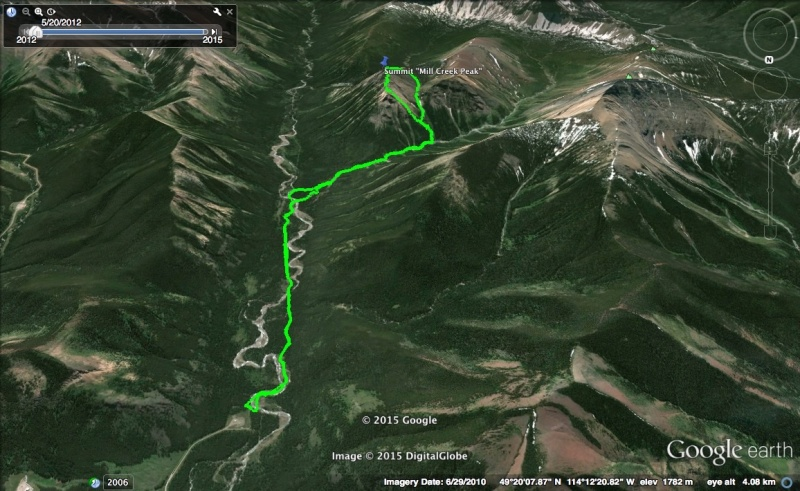 Mill Creek Peak Map 1