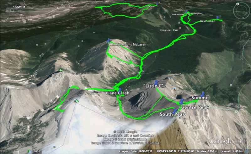 Andy Good Peak Attempt Map 3