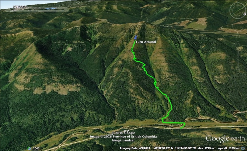 Mount Taylor Attempt Map 2