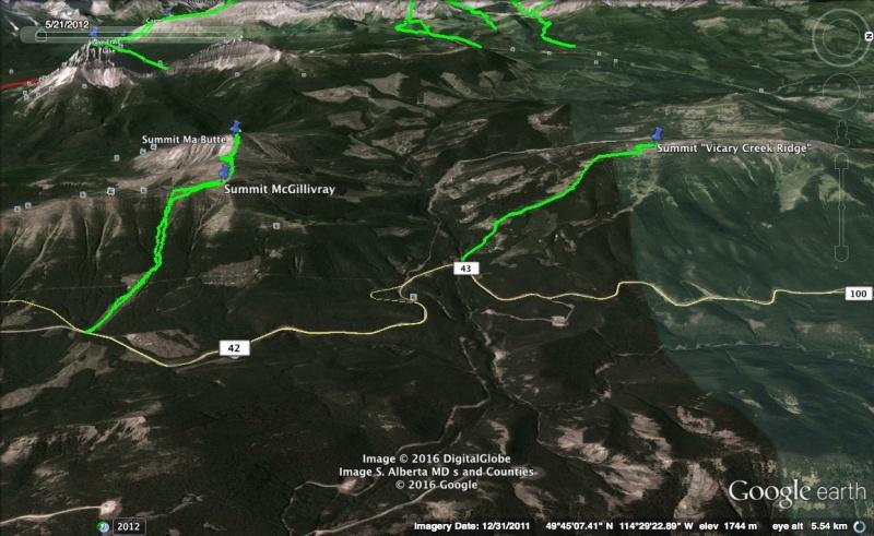 Vicary Creek Ridge Map 2