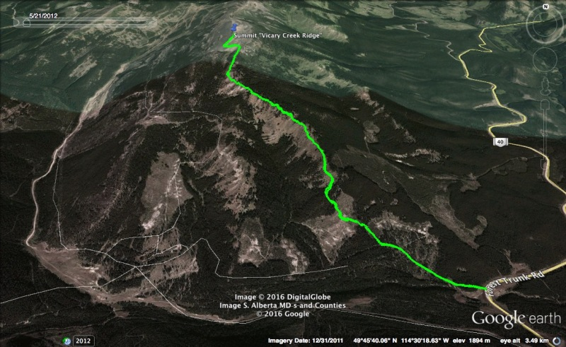 Vicary Creek Ridge Map