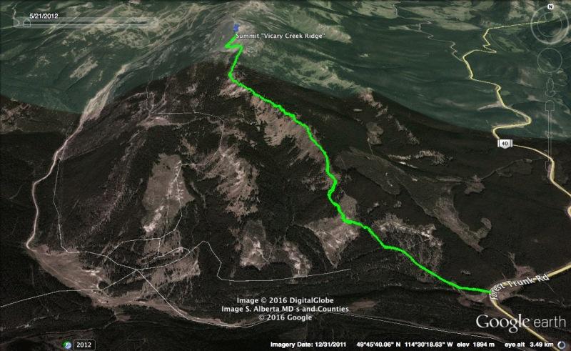 Vicary Creek Ridge Map