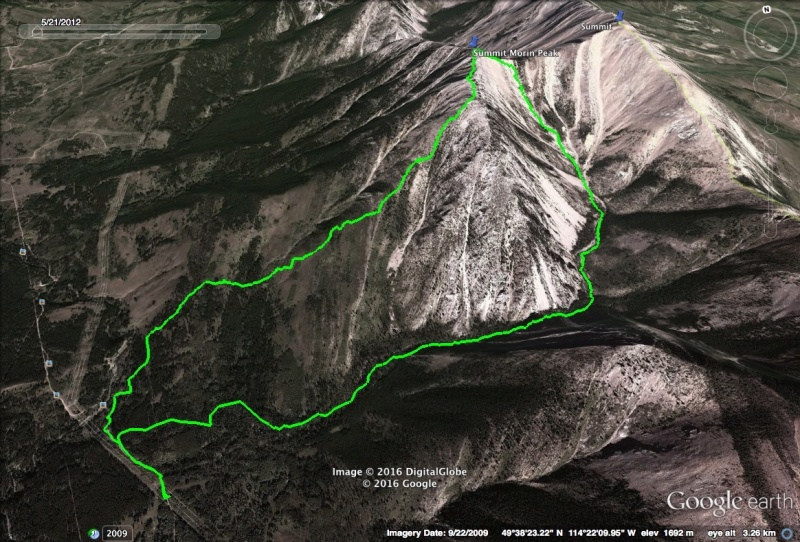 Morin Peak Map