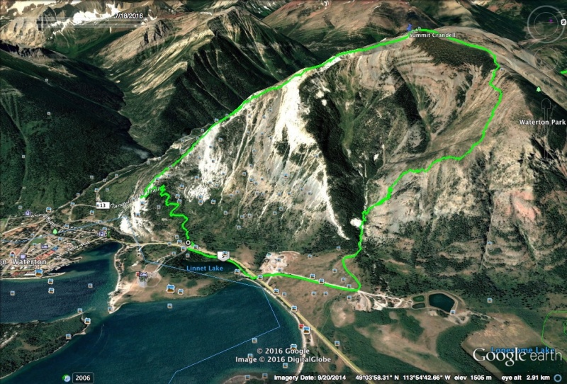 Mount Crandell Map1